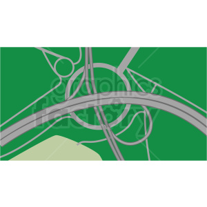 highway aerial scene vector clipart