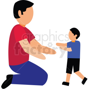 dad playing with son vector clipart clipart. Commercial use image # 412732