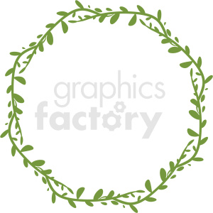 vine wreath frame vector clipart clipart. Royalty-free image # 412766