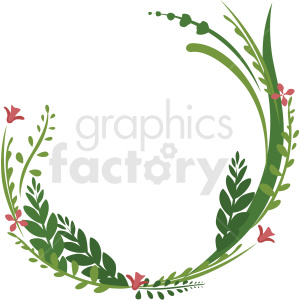 three quarter wreath frame vector clipart clipart. Commercial use image # 412773