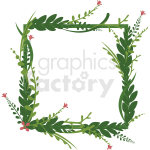 square shaped full floral frame vector clipart clipart. Commercial use image # 412782