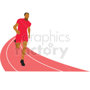 olympic track runner vector clipart
