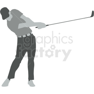 guy playing golf vector illustration clipart. Royalty-free image # 412923