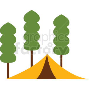 camping tent vector clipart icon clipart. Commercial use image # 412969