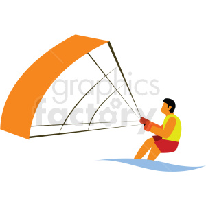 wind surfing vector clipart icon clipart. Commercial use image # 412978