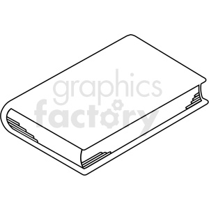 black and white book outline clipart. Royalty-free icon # 413006