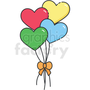 heart balloons vector clipart clipart. Commercial use image # 413289