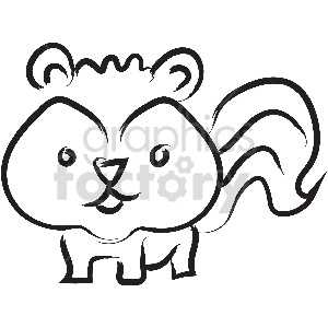 black and white tattoo squirrel vector clipart clipart. Royalty-free image # 413358