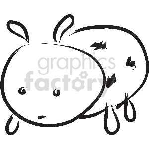 black and white lady bug vector clipart clipart. Royalty-free image # 413362