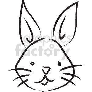 black and white tattoo rabbit vector clipart clipart. Royalty-free image # 413368