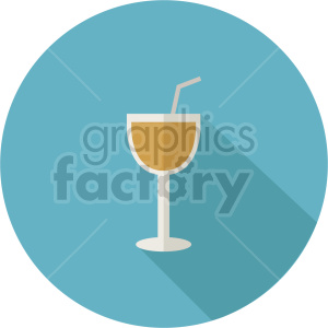 cocktail on circle background vector
