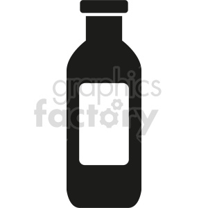 milk bottle no background vector clipart. Commercial use image # 413427