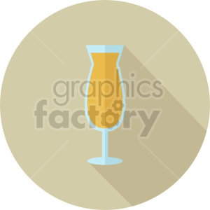 cocktail on yellow circle background vector clipart. Commercial use image # 413431