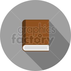 closed book vector clipart 2