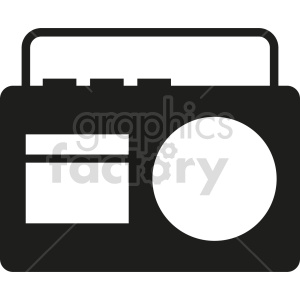 radio vector icon graphic clipart 3 clipart. Royalty-free image # 413568