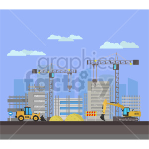 Building construction vector graphic clipart clipart. Commercial use image # 413647