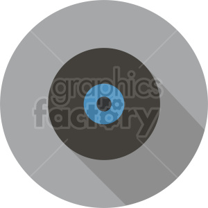 vinyl record vector icon graphic clipart 3 clipart. Commercial use image # 413688