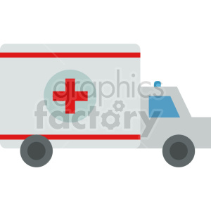 cartoon ambulance vector icon graphic clipart no background clipart. Commercial use image # 413772