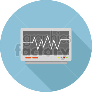 ekg machine vector icon graphic clipart 2 clipart. Commercial use image # 413778