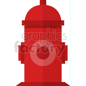 red fire hydrant vector icon graphic clipart clipart. Commercial use image # 413894