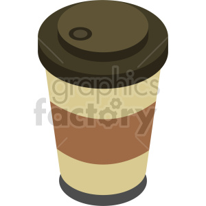 isometric coffee cup vector icon clipart 6 clipart. Commercial use image # 413957