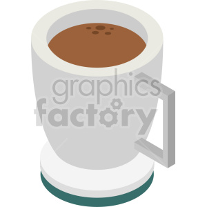 isometric coffee cup vector icon clipart 5 clipart. Commercial use image # 413959