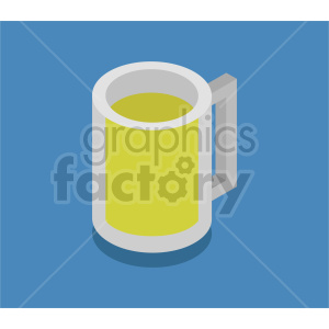 beer mug isometric vector clipart icon clipart. Commercial use image # 413961