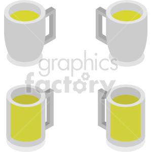 mugs of beer isometric vector clipart icon clipart. Commercial use image # 413964
