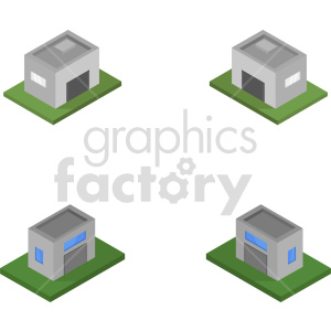 isometric garage vector icon clipart 2 clipart. Commercial use image # 414006