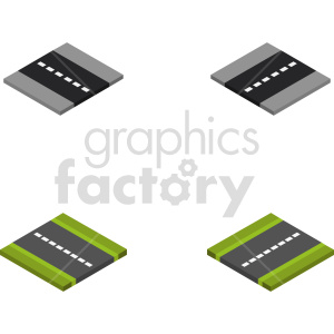 isometric road section vector icon clipart 3 clipart. Commercial use image # 414008