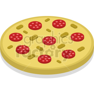 isometric pizza vector icon clipart 7 clipart. Commercial use image # 414049