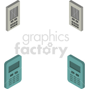 calculator isometric vector icon clipart bundle clipart. Commercial use image # 414099