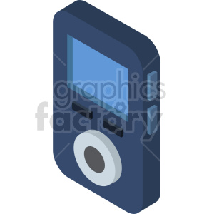 isometric mp3 player vector icon clipart 4 clipart. Commercial use image # 414109