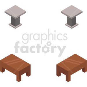 isometric table vector icon clipart 2 clipart. Commercial use image # 414162