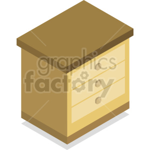 isometric dresser vector icon clipart 6 clipart. Royalty-free image # 414163
