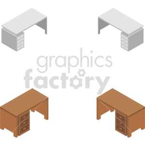 isometric desk vector icon clipart bundle clipart. Commercial use image # 414174