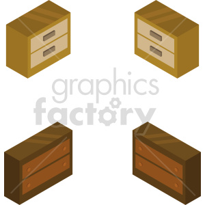 isometric dresser vector icon clipart 1 clipart. Commercial use image # 414183