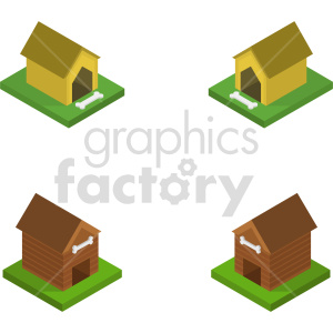 isometric dog house vector icon clipart 1 clipart. Commercial use image # 414243