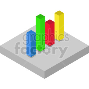 isometric bar charts vector icon clipart 4 clipart. Commercial use image # 414312