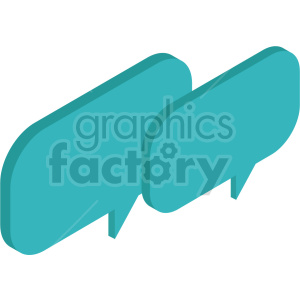 isometric chat boxes vector icon clipart 5