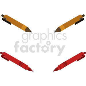 isometric pen vector icon clipart 2 clipart. Commercial use image # 414352