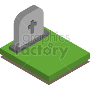 isometric tombstone vector icon clipart 1 clipart. Royalty-free image # 414363