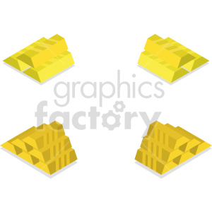 gold bars vector icon clipart 1