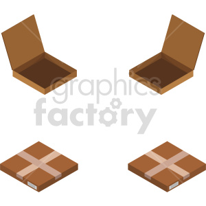 isometric boxes vector icon clipart 5 clipart. Commercial use image # 414442