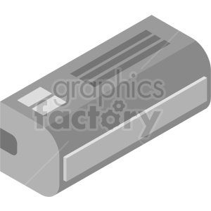 clipart - isometric air conditioner vector icon clipart 2.