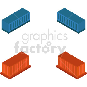 isometric storage container  vector icon clipart 1 clipart. Commercial use image # 414484