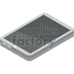 isometric smart tablet vector icon clipart clipart. Commercial use image # 414538