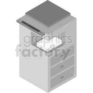 isometric copy machine clipart clipart. Commercial use image # 414597