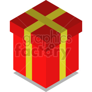 isometric red gift vector icon clipart 1 clipart. Commercial use image # 414608