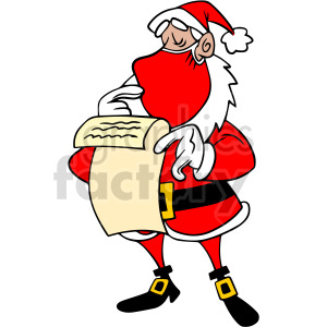 Santa checking the naughty list vector clipart